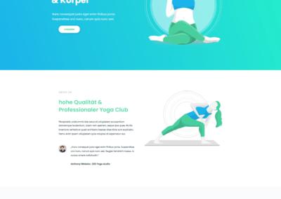 Yoga, Sport, Webseite, Vereinseite, Webdesign