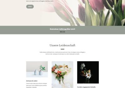 Webseite für Blumenladen, Webdesign