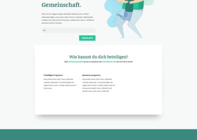 Spenden Webseite, Webdesign Verein