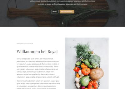 Webdesign Restaurant, Gastronomie Webseite