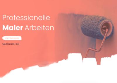 Malerbetrieb, Malerei Webseite, Webdesign für Maler