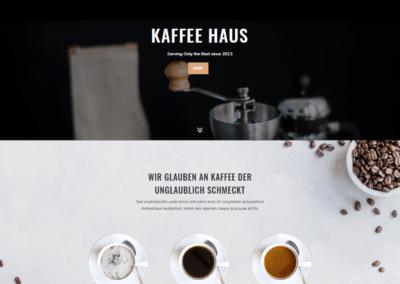 Webseite für Cafes, Cafe Webdesign, Kaffeehaus